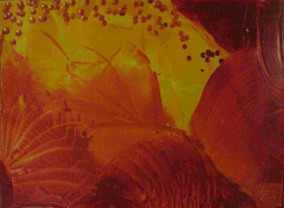 2011-12 Encaustic auf Leinwand 40x30 -FürGesine