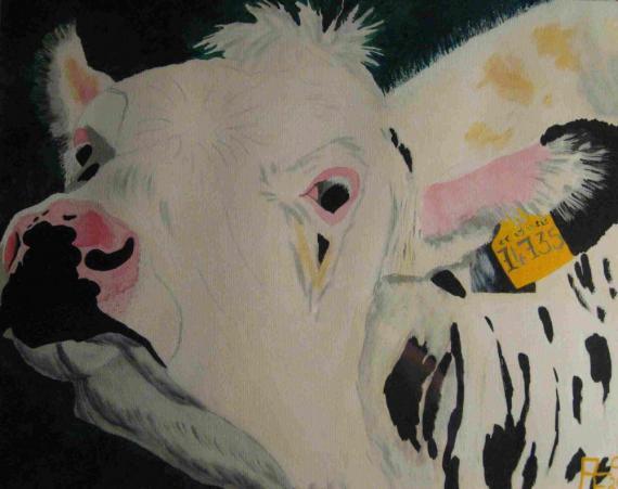 2012-10 Acryl auf Auqarellpapier 41x51 -Queene