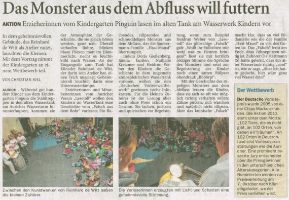 """Lesetoll Leseveranstaltung"""" Das Falsch aus dem Rohr"""" mit 100 Kindern..."""