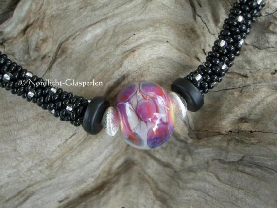 Perlencollier mit Glassolist