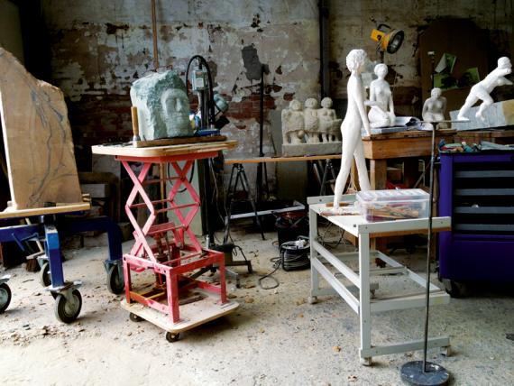 Bildhauer Helmut Jürjens Werkstattimpression 2