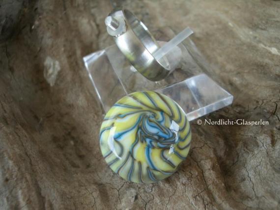 Edelstahl Wechselring mit Glasaufsatz