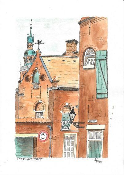 Altstadt Leer - Katinkaart by Katja Timme