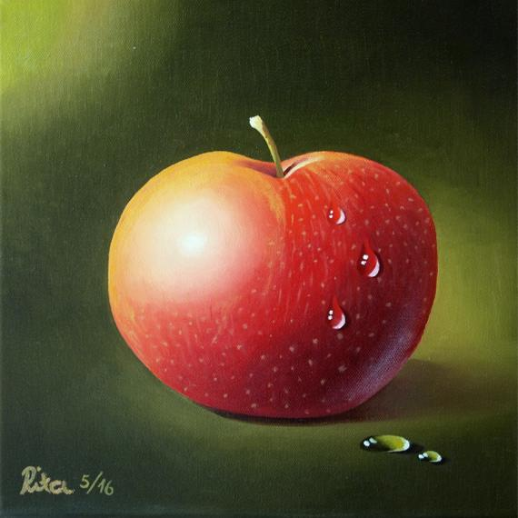 Ölfarben auf Leinwand, 30 x 30 cm, von Rita Gil Brand