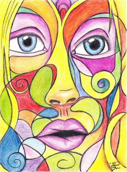Colourful Face