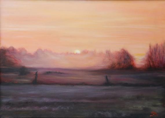Sonnenaufgang in Veenhusen Hammrich