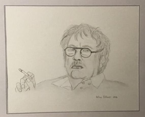 Horst Janssen 2016 30x40 Bleistift a. Acrylpapier
