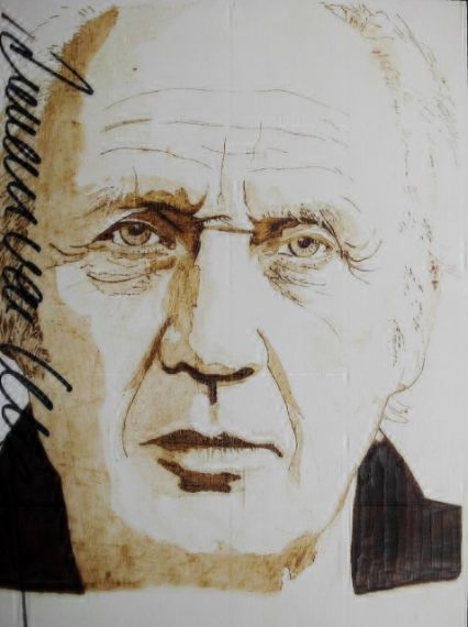 """Brandmalerei """"H. van Veen"""", Udo Brummerloh"""