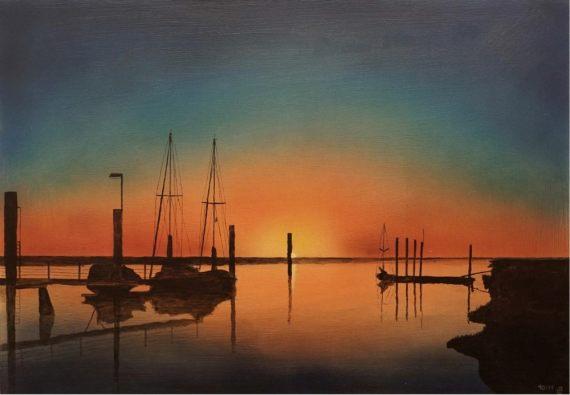 Sonnenaufgang Vareler Hafen