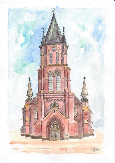 St. Antonius Papenburg- katinkaart by Katja Timme