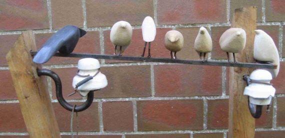 Vögel auf Elt. Leitung
