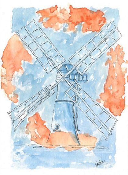 Windmühle- katinkaart by Katja Timme
