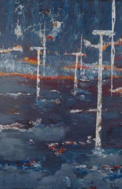 Elemente, 2010, Acryl auf Leinwand, 120 x 80 cm