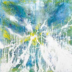 Iris Weissschuh, Wandel I, 2011, Mischtechnik auf Leinwand, 100 x 100 cm