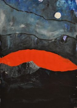 Ohne Titel, 2012, Gouache auf Karton, 100 x 70 cm, Inv.Nr.: G014