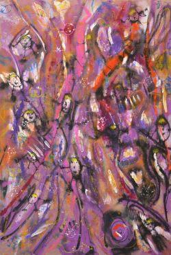 Ohne Titel, 2017, Acryl auf Leinwand, 200 x 150 cm