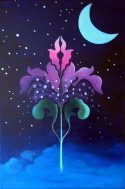 """Traumblume"", 40 x 60 cm, Acrylfarbe auf Leinwand, Rita Gil Brand 2016"